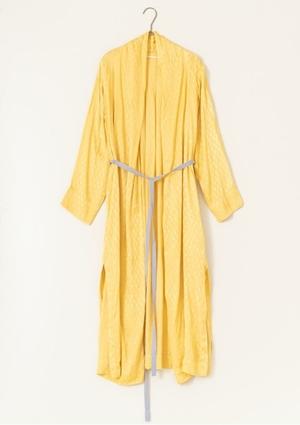 芸能人が幸せボンビーガールで着用した衣装黄色ロングカーディガン
