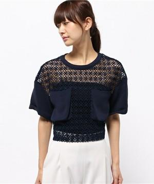 芸能人がブログ 舞川あいくで着用した衣装かぎ編みトップス
