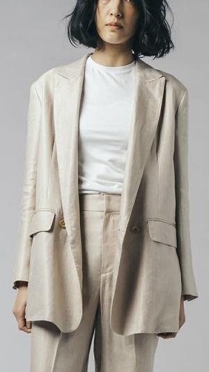 DOUBLE STANDARD CLOTHINGのリネンキュプラ ブライトツイルジャケット