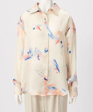 jemma.atelierのペイントプリントシャツ
