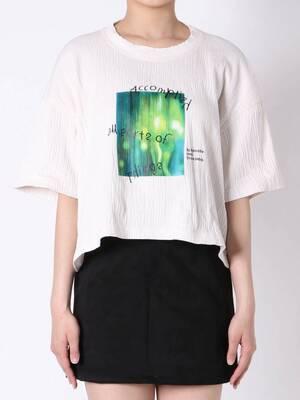 芸能人が彼女はキレイだったで着用した衣装Tシャツ