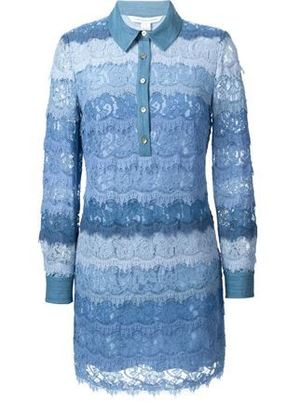 DIANE von FURSTENBERGのScalloped Lace Shirt Dress