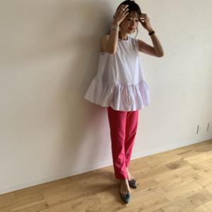 芸能人がキニナル金曜日で着用した衣装パンツ