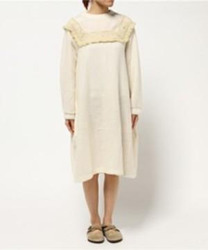 芸能人がローソンで着用した衣装白のニットワンピース