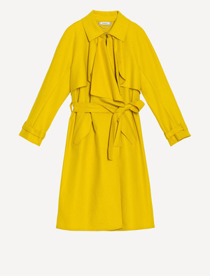 MAX & Co.のLightweight deconstructed trench coat mustard