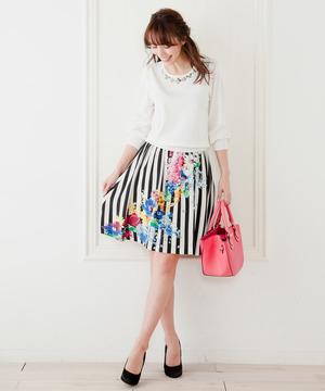 芸能人お嬢様・新入社員が家族ノカタチで着用した衣装スカート