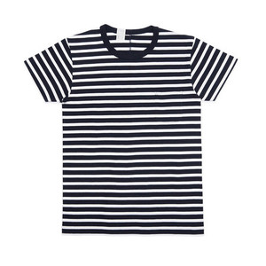N.HOOLYWOODの2 RCH CREW NECK T-SHIRT NAVY BORDER