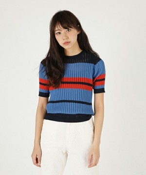 moussyのSTRIPE SWEATER