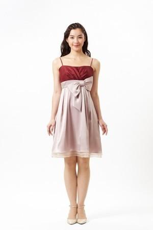 Aimerのウエストリボン配色ドレス