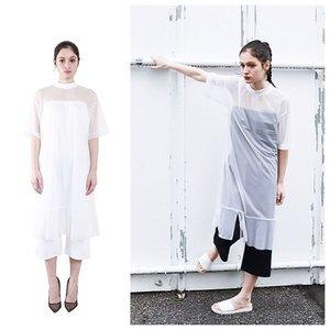 芸能人がブログで着用した衣装シースルー/ワンピース?