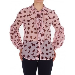 PINKOのCat print Georgette shirt