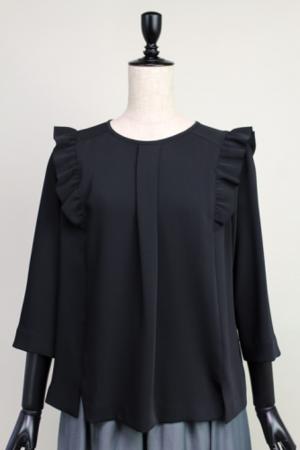 芸能人宮澤エマがアベマプライムで着用した衣装シャツ/ブラウス