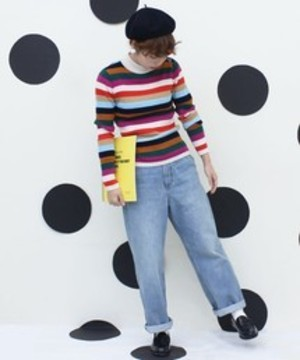 芸能人がニンゲン観察バラエティ モニタリングSPで着用した衣装トップス
