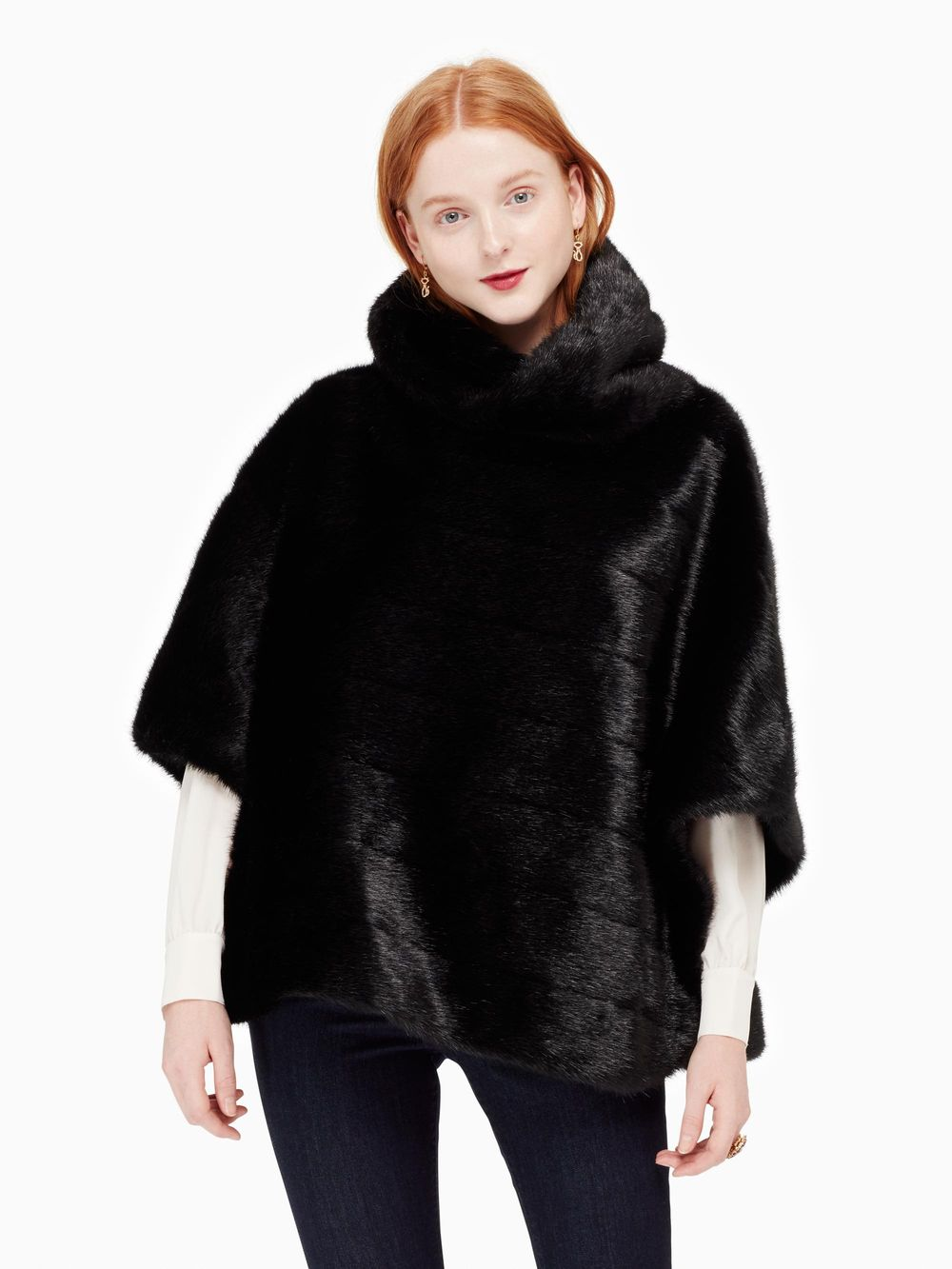 kate spade new yorkのON POINTE FAUX MINK CAPE