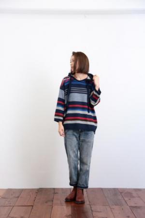 芸能人が蹴旅〜サカタビ〜で着用した衣装ニット