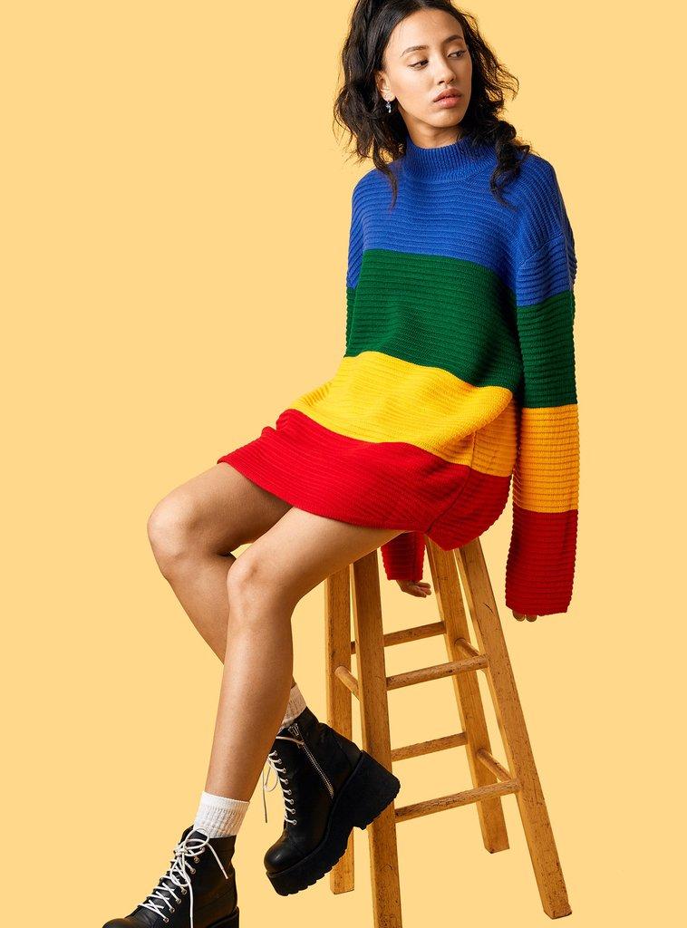 芸能人藤田ニコルがInstagramで着用した衣装ニット