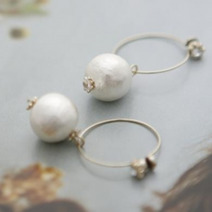 raffiaの【JC1291】Jewel Casket / Magnet earrings Cotton pearl