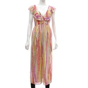 芸能人がタヒチの風で着用した衣装マキシワンピース