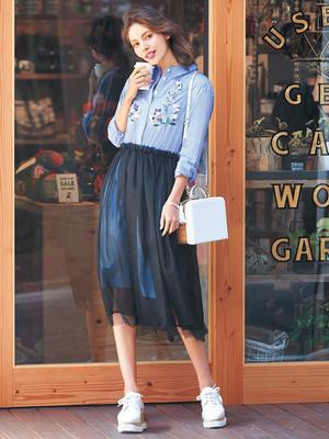 芸能人がめざましテレビで着用した衣装シャツ/スカート