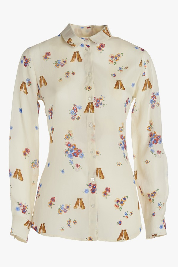 ottod'AmeのBASIC BLOUSE IN PRINT SILK BLEND