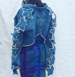 芸能人がローラと直美のGO!GO!TVで着用した衣装デニムジャケット