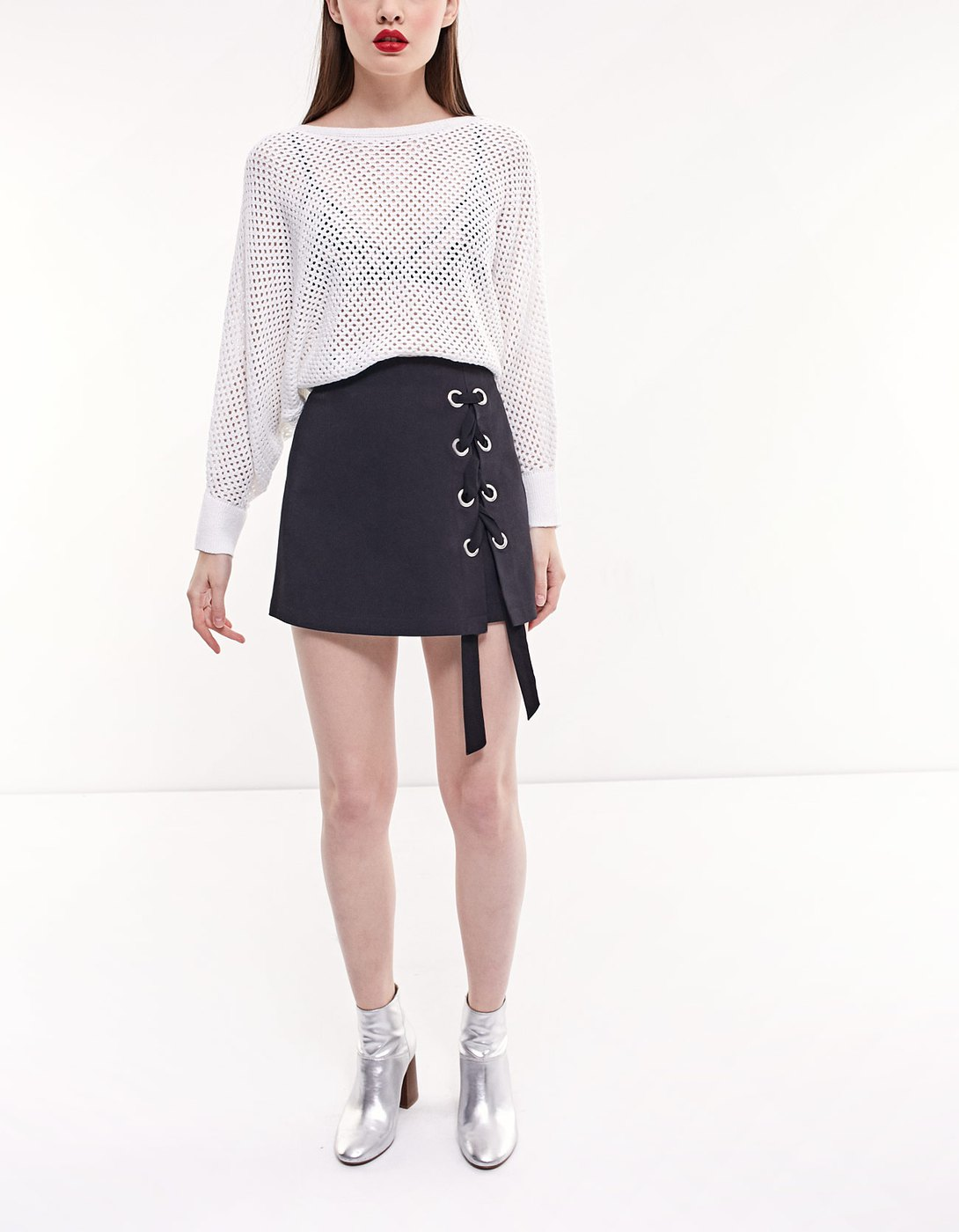 stradivariusのLace up skort