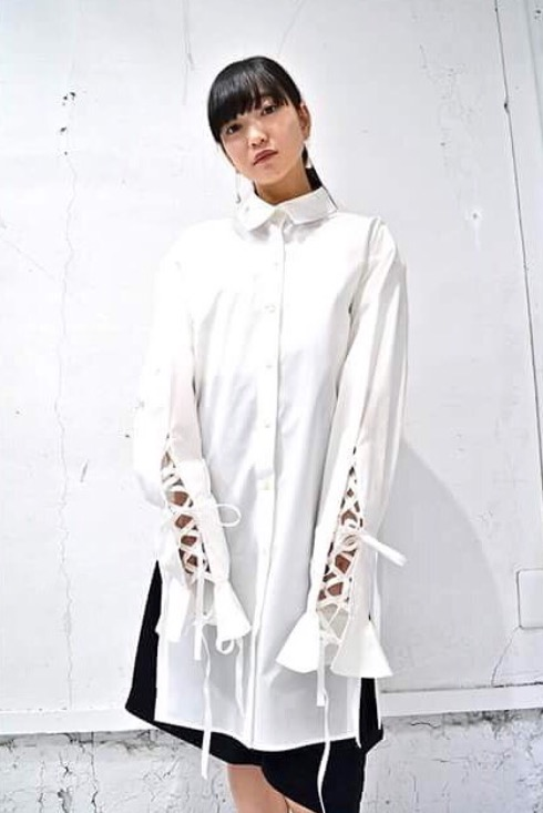 tiit tokyoのlace up big shirts