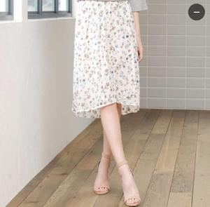 芸能人女子モドキ・S(小柄でぽっちゃり)が人は見た目が100パーセントで着用した衣装スカート