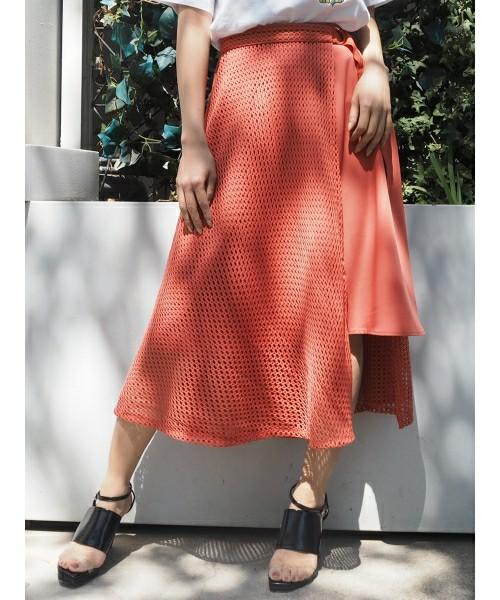 MURUAの2WAYカバーフレアスカート