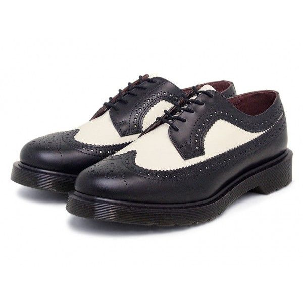 Dr.Martensの3989 BROGUE SHOE BLACK/WHITE
