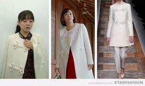 芸能人が韓ドラ チョンダムドン アリスで着用した衣装女性の白いコートと、ネックレス