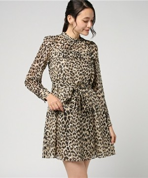 kate spade new yorkのRUN WILD LEOPARD CLIPPED DOT MINI DRESS
