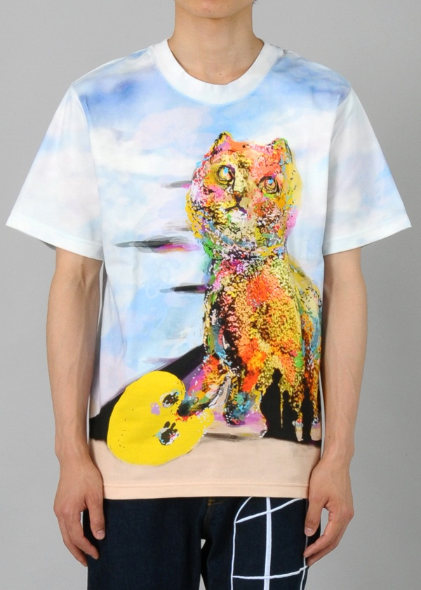 芸能人がライオンのグータッチで着用した衣装カットソー