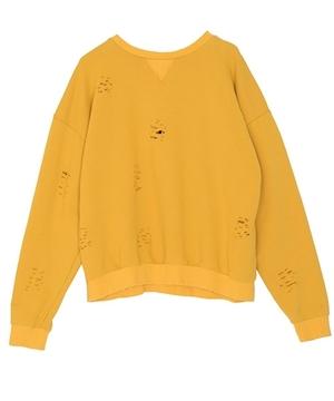 芸能人がアクセルワン移籍後ツイートで着用した衣装黄色のクラッシュ風トップス