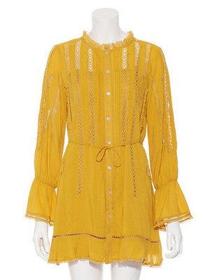 芸能人が内田真礼 「内田真礼とおはなししません?」のDVD発売記念イベントで着用した衣装黄色のワンピース