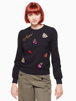 kate spade new yorkのpatch sweatshirt