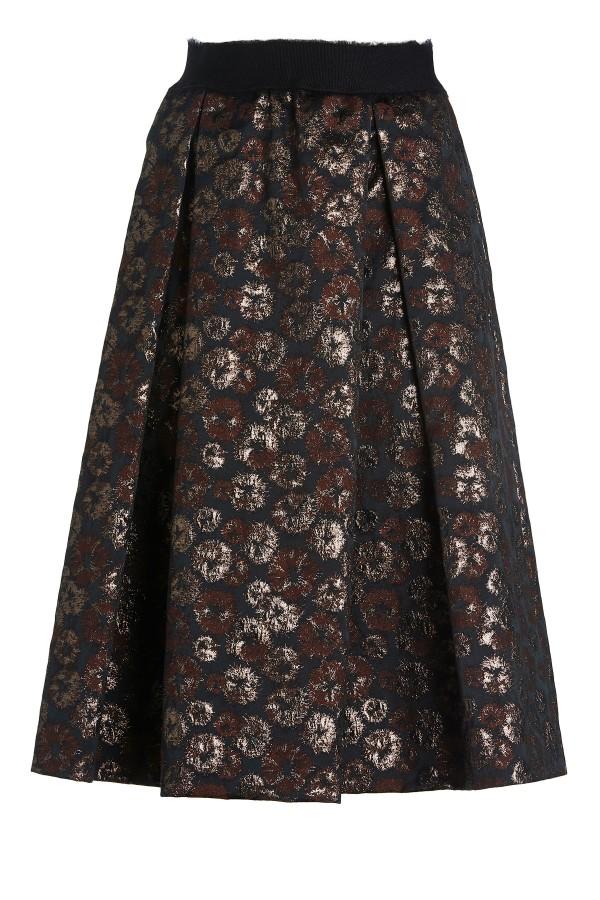 ottod'Ameのルレックス ブロケード ワイドスカート