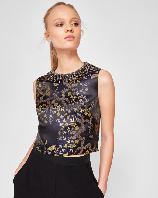Ted Baker LondonのKyoto Gardens jacquard crop top