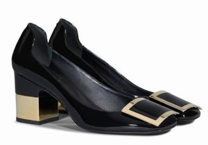 Roger VivierのPodium Square Pumps in Patent Leather