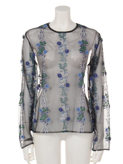 GREED Internationalの[GREED]BLOOM FLOWER Long Sleeve Blouse