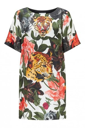 PAUL & JOEのGelianne Tiger Floral Silk Dress