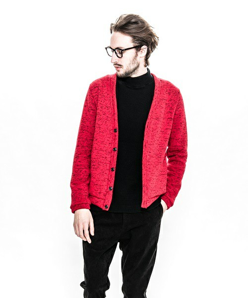 ACANTHUSのsweater fleece knit cardigan