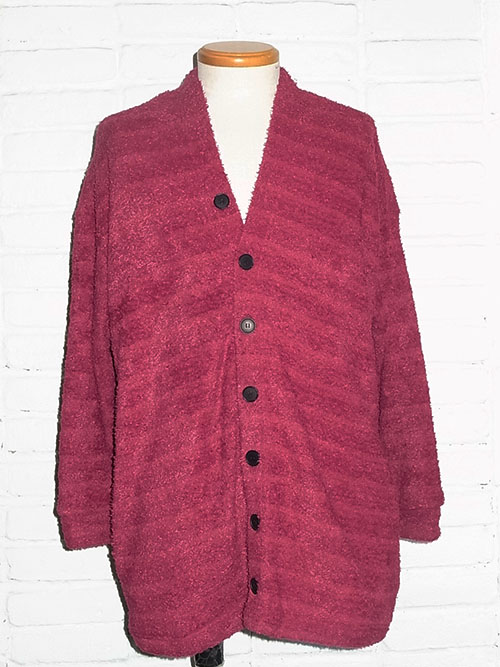 DIET BUTCHER SLIM SKINのShaggy cardigan (BORDEAUX)