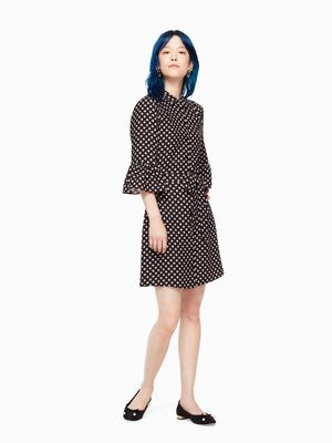 kate spade new yorkのFINER THINGS DIAMOND CREPE SHIRTDRESS