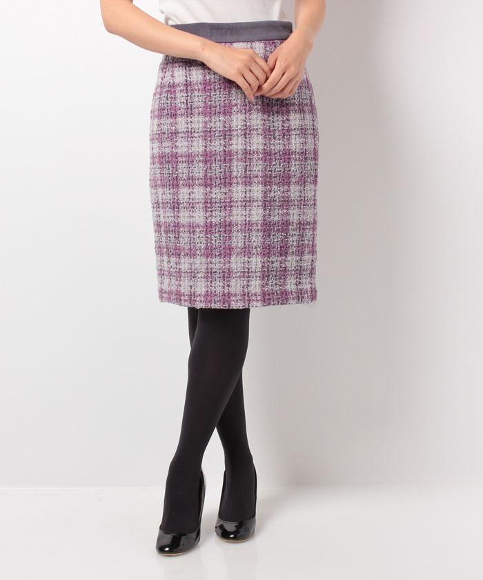 Apuweiser-richeのモールチェックタイトスカート