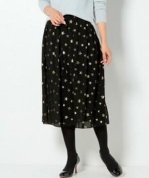 芸能人が雑誌 NYLONで着用した衣装星柄のワンピース