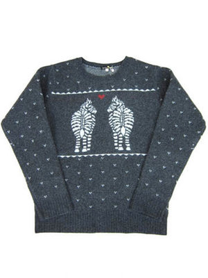 "BohemiansのCREW NECK ""LAMB'S LOVE ZEBRA"""