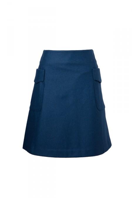 Danny&AnneのウールAラインスカート