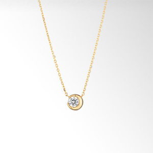 STAR JEWELRYのMOON SETTING DIAMOND NECKLACE