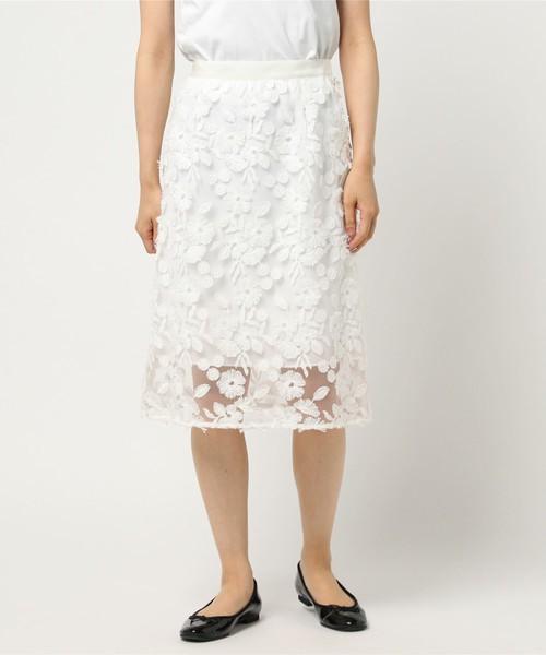 Loulou Willoughbyのチュールフラワーシシュウナロースカート
